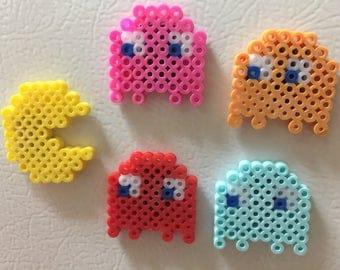 8 Bit Retro Perlet Bead Pac Man Magnets- Set