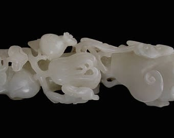 Chinese Jade carving of a ling zhi