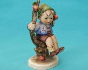 Apple Tree Boy  M. J. Hummel Goebel porcelain figurine made 1960 - 1972 West Germany