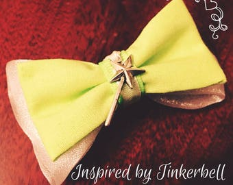 Tinkerbell Inspired Hair Bow