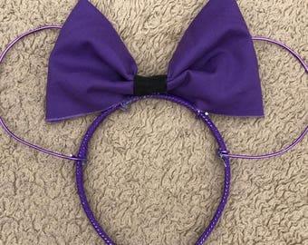 Purple Minnie Ears
