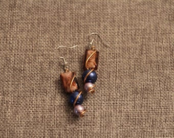 Handmade Bead Earrings with a Twist