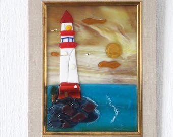 Painting glass Lighthouse
