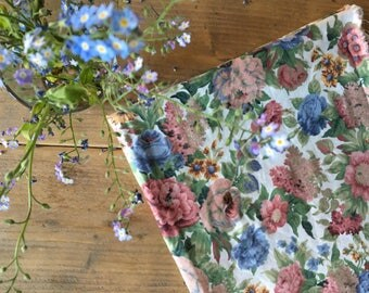 Floral fabric for your handmade projects // DIY projects // Cotton fabric