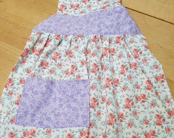 Pink n Purple full apron x small
