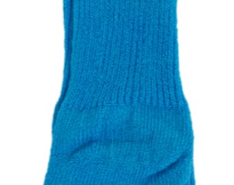 Cyan Blue Doll Socks will fit 15 Inch Bitty Baby, Bitty Twins, and 18 Inch American Girl Dolls