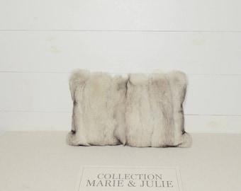 Silver Fox pillow
