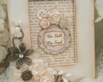 Inspirational Framed Art Piece - Be Still My Soul