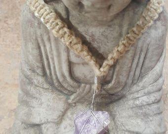 Purple Dream Rock Necklace
