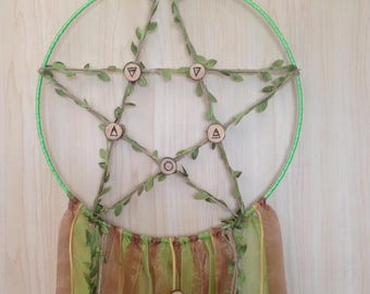 Earth Mother Green/Brown Dream Catcher