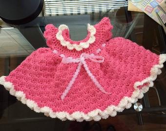 newborn pink baby dress
