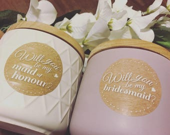 Will you be my maid of honour/bridesmaid candle | 400ml