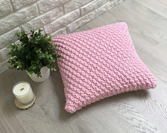 Hand Knitted Throw Pillow Cover - Knitted Twists - 20+ Amazing Colours