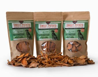 Sweet Potato Dog Treats Combo - 100% Natural and American Made, No artificial flavors or preservatives