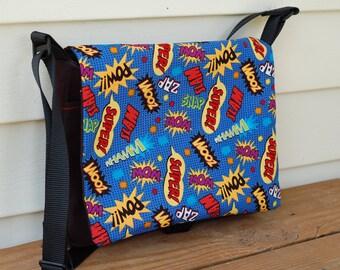 Comic Themed Small Messenger Bag