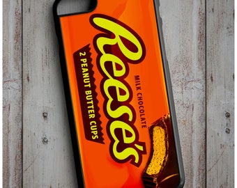 Novelty Reese's Peanut Butter Cup Chocolate Bar Cool New Case Cover for any iPhone