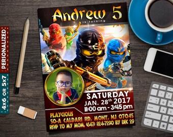 Lego Ninjago Invitation- Lego Ninjago Birthday- Lego Ninjago Party- Lego Ninjago Printable- Lego Ninjago Card- Lego Ninjago Invite- Ninjago