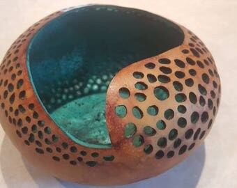 Gourd art swirl