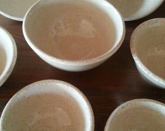 Set Of 4 Ceramic Small Bowls /Handmade Pottery/ Stoneware Serving Plates / salad bowls /israel