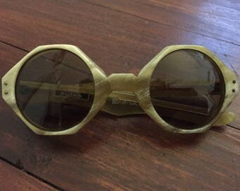 Vintage A. Sutain Octagonal Celluloid Sunglasses