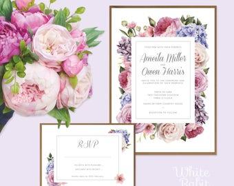 Secret Garden Wedding Suite with envelopes for both