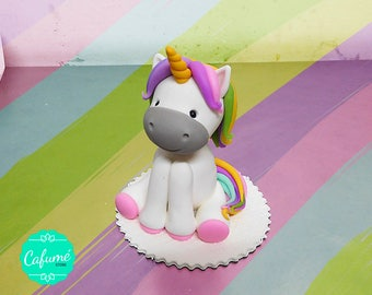 Unicorn ceramic cold - Topper cake