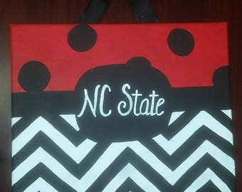NC State Chevron Painting
