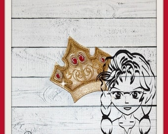 CRoWN SLeePING PRiNCESS SWiRLY (Add On ~ 1 Pc) Mr Miss Mouse Ears Headband ~ In the Hoop ~ Downloadable DiGiTaL Machine Emb Design by Carrie