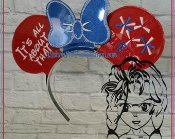 All about that CHEER PoM PoM Inspired (3 Piece) Mr Ms Mouse Ears Headband ~ In the Hoop ~ Downloadable DiGiTaL Machine Emb Design by Carrie