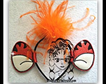 TIGER BouNCiNG Ears Bear Friend ~ (2 Piece) Character Inspired Headband ~ In the Hoop ~ Downloadable DiGiTaL Machine Emb Design by Carrie