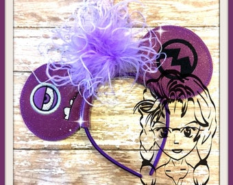 PuRPLE Lil GuY Evil Friend  Inspired (3 Piece) Mr Miss Mouse Ears Headband ~ In the Hoop ~ Downloadable DiGiTaL Machine Emb Design by Carrie