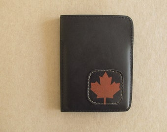 Passport Holder with Accessory Pocket Leather