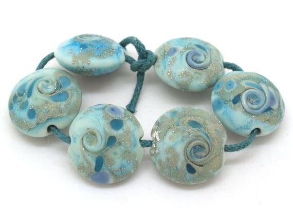 Turquoise Lentil Bead Set
