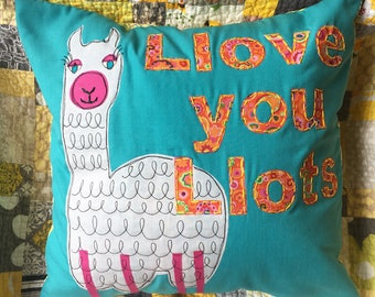 """15"""" handmade llama pillow"""