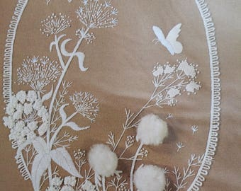 Vintage Sunset Stitchery 2266-Dandelions in Lace-Embroidery Kit, new in package, 3 dimensional-OOP-1980