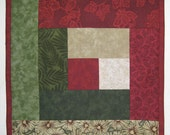 Custom Winter Red Beige Green Square
