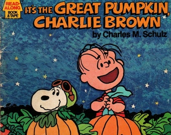 Charlie Brown Records Presents It's the Great Pumpkin, Charlie Brown - Charles M. Schulz - 1978 - Vintage Kids Book