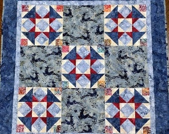 PDF Quilt Pattern - Jolie - Quilt Pattern - wall hanging pattern - beginner quilt pattern - easy quilt pattern, pdf download, small quilt,
