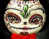 "Frida Kahlo as ""La Catrina"", an original Dia De Los Muertos Sugar Skull painted art doll by Danita Art"