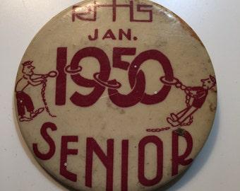 Richmond Hill High School 1950 Senior Pin