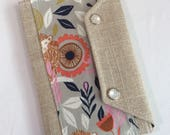 Ready to Ship Passport Cover Case- Mini In Touch Clutch for Moleskine Journals and Passports- Lions and graphic deisgns