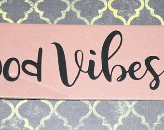 Good Vibes Only Leather Cuff