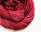 paprika / hand dyed yarn / fingering sock dk bulky yarn / super wash merino wool yarn / single or ply/choose your base/ chili spice red yarn
