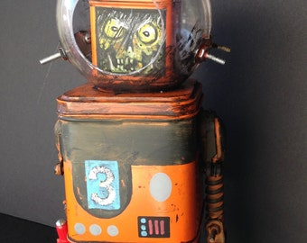 robot zombie spacebot found object sculpture