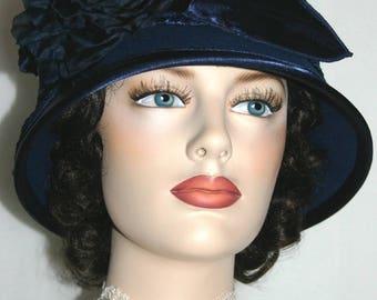 Flapper Hat Cloche Hat Downton Abbey Hat Gatsby Hat Edwardian Hat Roaring Twenties - Madame Ronda