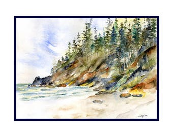 Watercolor Oregon Coast Note Cards Notecards, Cannon Beach, Gift Box, Stocking Stuffers