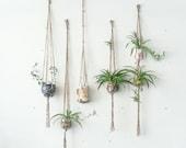 CUSTOM~ Natural Jute Single Hanging Planter- Wall Accent- Bohemian Decor- Dorm Decor~ Modern Macrame- Urban Wall Accent- BohoChic Home Decor