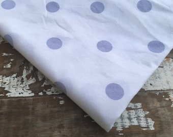 Polka Dot Fabric-Purple-Reclaimed Bed Linens