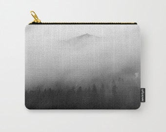 Carry All Pouch | Photo Pouch | Black and White Pouch | Mt Rainier National Park | Make Up Bag | Toiletry Bag | Change Purse | Organizer Bag