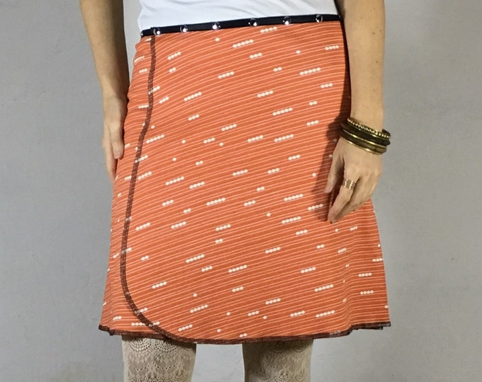 Organic Coral Pearl Snap Around Skirt by Erin MacLeod